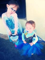 DIY, Anna, Elsa, Costume, Frozen, Halloween, Birthday